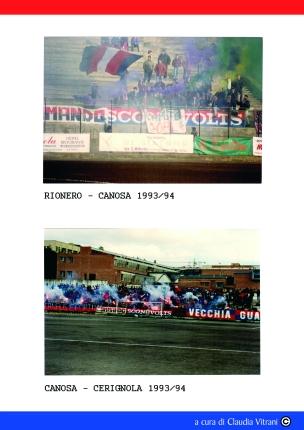 CANOSA- RIONERO 1993/94 CANOSA - CERIGNOLA