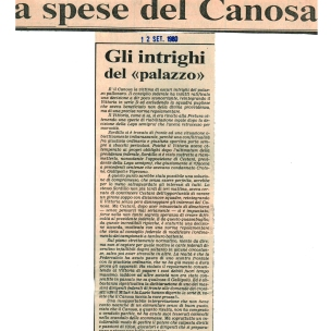 CANOSA. Stampa 1980
