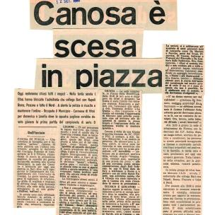 CANOSA. Stampa 12 settembre 1980