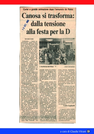 CANOSA IN D. Stampa 1980