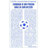 CANOSA. Stampa 2001