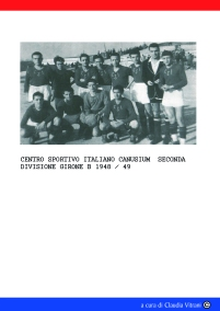 CANOSA. CAMPIONATO DI SECONDA DIVISIONE 1948